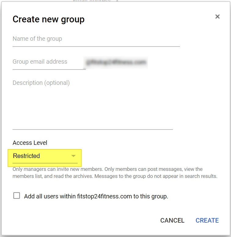 g suite add group